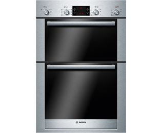 Bosch Serie 6 HBM53R550B Built In Double Oven - Brushed Steel. It Will Perfeclty Look Great Built Into Your Kitchen