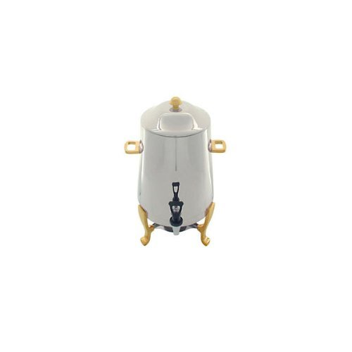 Stainless Steel Coffee Urn  Gold Accents - 3