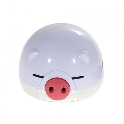 Cute Pig Style Car Mounted Oxygen Bar Air Purifier-White