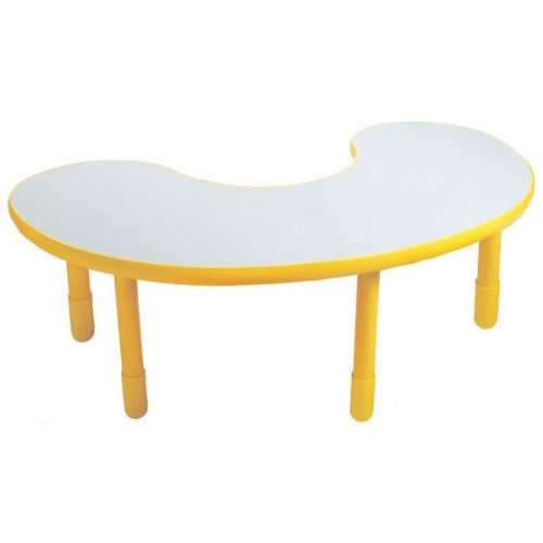 Angeles 38X65 Kidney Table-Canary Yellow-22 at Sears.com