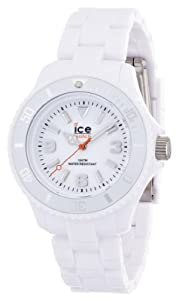 ICE-Watch - Montre Mixte - Quartz Analogique - Ice-Solid - White - Small - Cadran Blanc - Bracelet Plastique Blanc - SD.WE.S.P.12