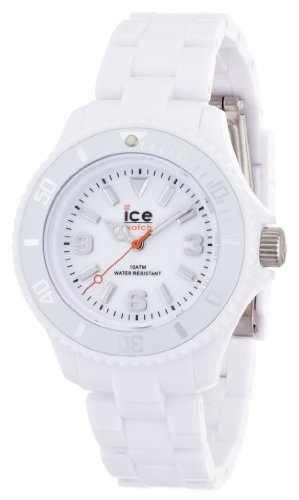 Ice-Watch Women's Quartz Watch with White Dial Analogue Display and White Plastic or PU Bracelet SD.WE.S.P.12