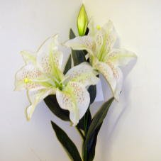 Artificial / Silk Flowers - Single Stem Tiger Lilly with 2 Heads in Pink