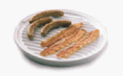 Nordic Ware 62404 Microwave Two-Sided Bacon/Meat Grill - Quantity 6 front-575001