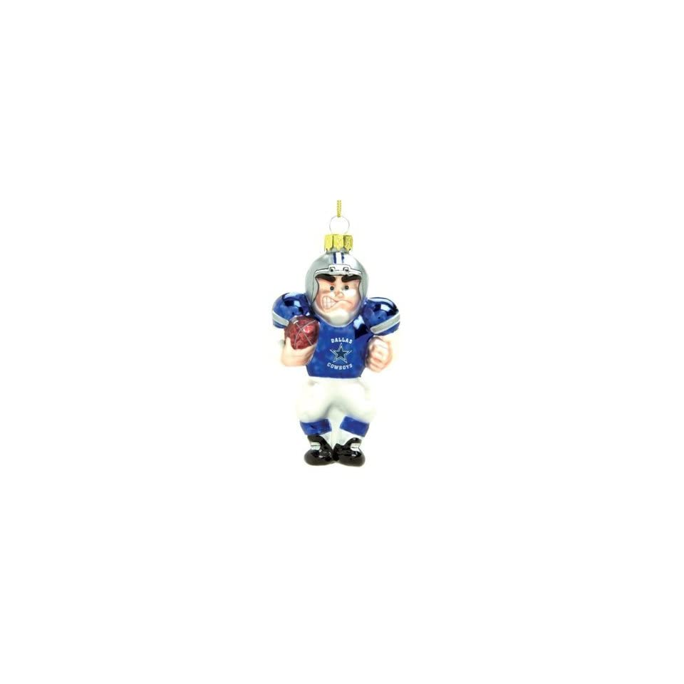 Dallas Cowboys 4 Glass White Football Player Holiday