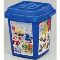 Artecブロック バケツ220[ビビッド] 基本色 アーテック カラーブロック パズル ゲーム 玩具 おもちゃ 知育玩具 3歳 4歳 5歳 6歳 教育 レゴ・レゴブロックのように自由に遊べます