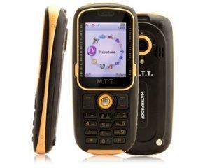 MTT Waterproof Téléphone portable GSM/Bibande GPRS Bluetooth Orange/Noir