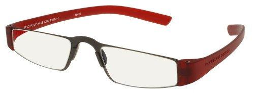 Porsche Design p8801 Reading Tool with Rodenstock Clear Ophthalmic Lenses -- Reading Glasses; Red