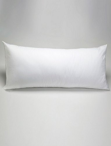 "Advanced Foam Core And Fiber Body Pillow- 200 Thread Count-20""X54""- Made In Usa-Exclusively By Blowout Bedding"