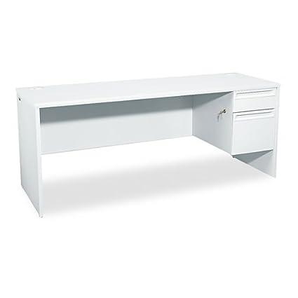 HON - 38000 Series Right Pedestal Credenza, 72w x 24d x 29-1/2h, Light Gray 38856RQQ (DMi EA