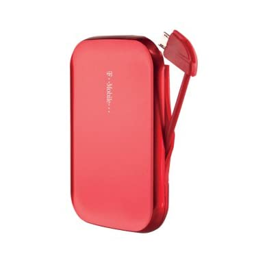 T-Mobile Universal MicroUSB Portable Battery Pack Red 1950 mAh (Refurbished)