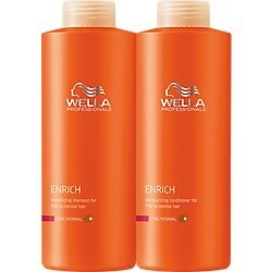 Wella Enrich Shampoo & Conditioner Coarse Hair Liter Duo 33.8 Oz