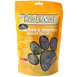 THE REAL MEAT COMPANY 828004 Dog Jerky Chicken/Venison Treat, 12-Ounce (Company Of Dogs compare prices)