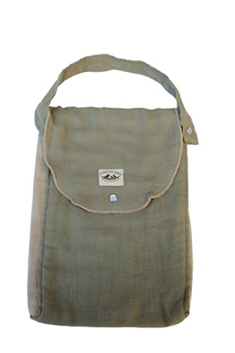 Poncho Baby Organic Diaper Bag: Pack-N-Run Olive/Beige