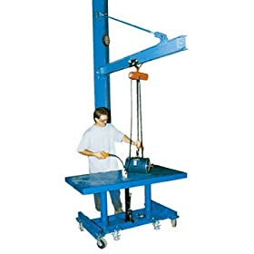 "Bear Claw Floor Mounted Jibs; Under I-Beam Floor: 99-1/2""; I-Beam (Flange x Height): 3.332"" x 6""; Overall Height: 105-1/2""; Capacity (LBS): 600; Model# BJIB-FM-6"