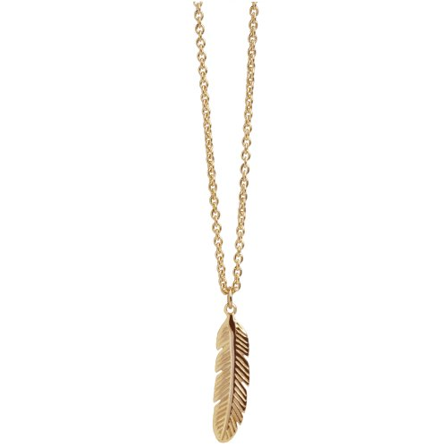 Feather Pendant In Rose Gold Vermeil