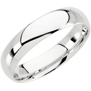 Genuine IceCarats Designer Jewelry Gift 10K White Gold Wedding Band Ring Ring. 04.00 Mm Light Comfort Fit Band In 10K Whitegold Size 10