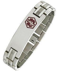 Stainless Steel Adjustable Medical ID Bracelet