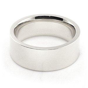 14K White Gold Men's & Women's Wedding Bands 7mm flat comfort-fit, 12.25