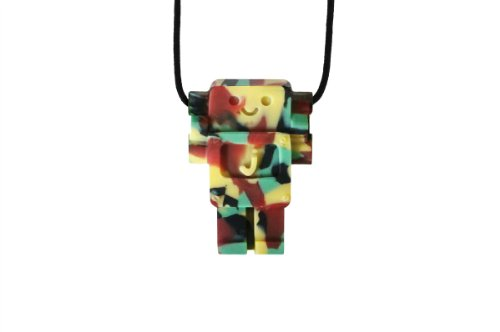 Jellystone Robot 13 Pendant Teether Kids Necklace - Camo - 1