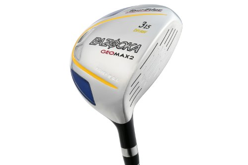 Tour Edge Men's GeoMax 2 Draw Fairway Wood (Left-Handed, #5 (20.0) Degree Loft, Grafalloy Graphite Stiff Shaft)