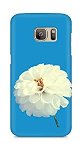 Amez designer printed 3d premium high quality back case cover for Samsung Galaxy S7 Edge (White flower)