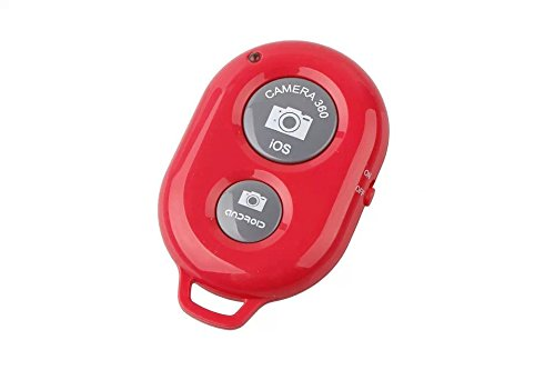 Oumers Bluetooth Wireless Remote Control Camera Photo Shutter Release Self Timer Selfie Self-time For iPhone 6 Plus 5 4 3, Samsung Galaxy S3, S4, S5, Note 6 4 3 2, LG , HTC, Google Nexus, Motorola Ipad Ipod Android Samsung Galaxy Smart Phones and other iOS Android Phones Red