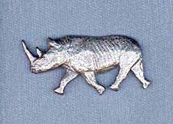 Rhinoceros Pin