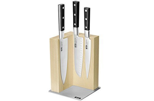 Fissler 4-piece Kitchen Knife Set with Magnetic Block and Japanese Knives