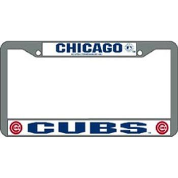 Rico Industries MLB Chrome White License Plate Frame, Chicago Cubs