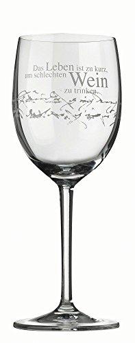 DAS lEBEN iST à vin zU kURZ, uM... verre à vin roues
