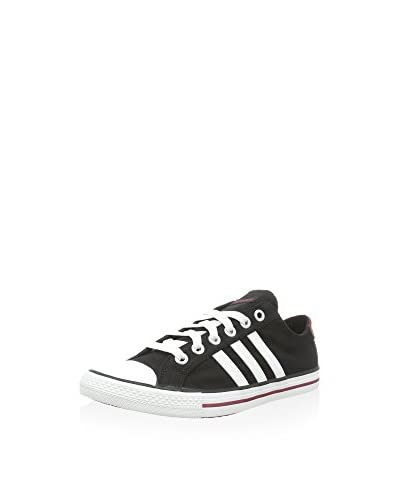 adidas Zapatillas Vlneo 3 Stripes Lo K Negro / Blanco
