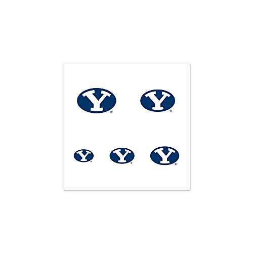 BYU Cougars Official NCAA 1 inch Fingernail Tattoo Set