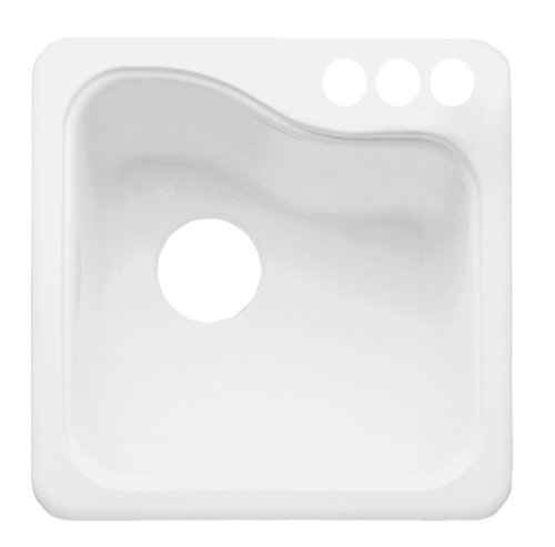 Americast Sink : ... White Heat Silhouette 33inch dual level 4-hole kitchen sink Sinks