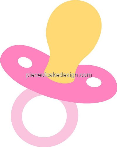1/4 Sheet ~ Pink Baby'S Pacifier Birthday ~ Edible Image Cake/Cupcake Topper!!!
