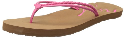 Roxy RG Lanai Flip Flop ,Crazy Pink,11 M US Little Kid