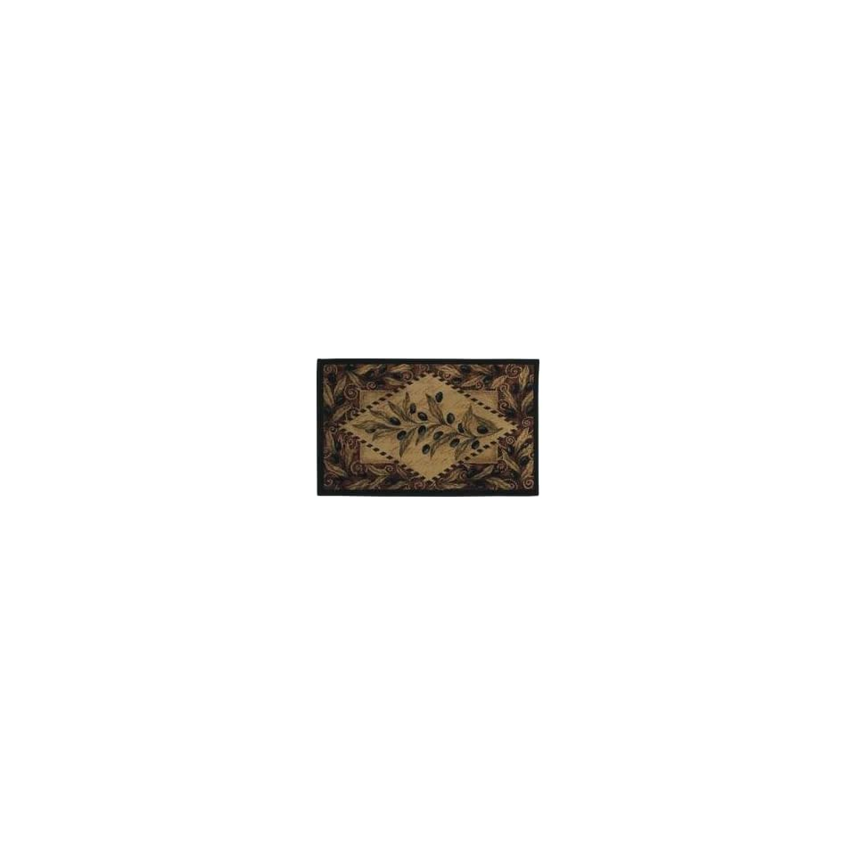 Shaw   Reflections   Olive Diamond Area Rug   26 x 42