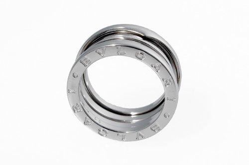 BVLGARI ブルガリ リング B-ZERO 1 WS AN191024 3Bands ホワイトゴールド 18K 指輪 3バンド ペアリング マリッジリング【日本サイズ9号】