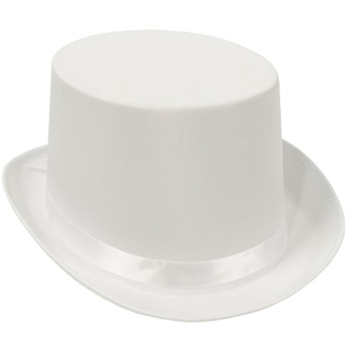 White Satin Deluxe Top Hat