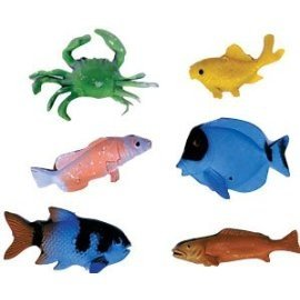 Deep Sea Fish Plastic Cake Decorations - 12 pcs - 1