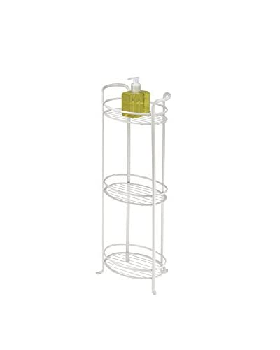 InterDesign Axis 3-Tier Shelf, Pearl White