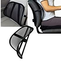 Cool & Breathable Mesh Support - Lumbar Support Cushion Seat Back Muscle