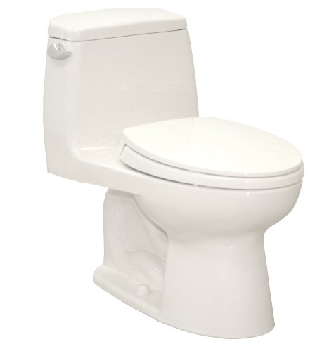 TOTO MS854114SG-01 Ultramax Elongated One Piece Toilet with Sanagloss, Cotton White
