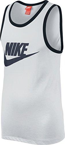 Nike Ace Tank-Logo Men White/Black/Obsidian 576605-101 (SIZE: L)