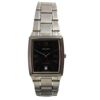 ORIENT Titan black Quarz Herren Uhr Datum CUNBW001B