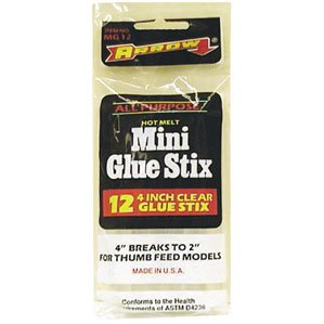 Buy 10 Pack of MG12 4 IN. 12PK GLUE STICK (ARROW FASTENER COMPANY,INC Painting Supplies,Home & Garden, Home Improvement, Categories, Painting Tools & Supplies, Wallpaper Supplies, Wall Repair)