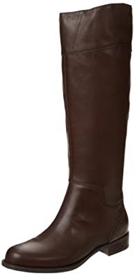 Nine West Women's Counter-W Bootie,Dark Brown Leather,5 M US