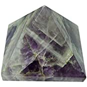 Satyamani Natural Amethyst Pyramid(Small) Showpiece - 3.5 Cm (Crystal, Purple)