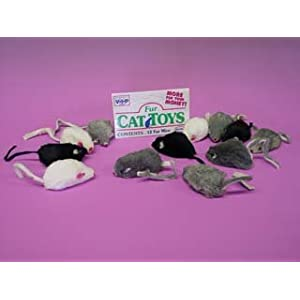 "Furry Mice Assorted 2 "" 12 ct."
