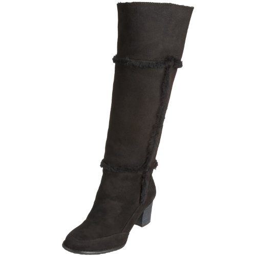 Rockport Gw H.Boot Buckle Women's Knee High Boots Black Suede K53773 7 UK